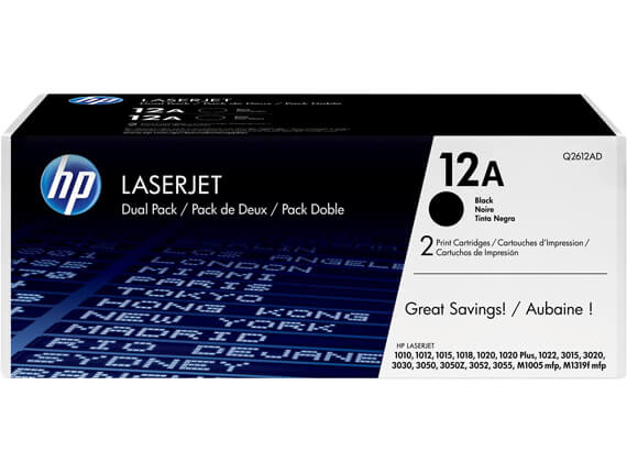 HP 1018/1020/1022Toner Cartridges High Yield Q2612A