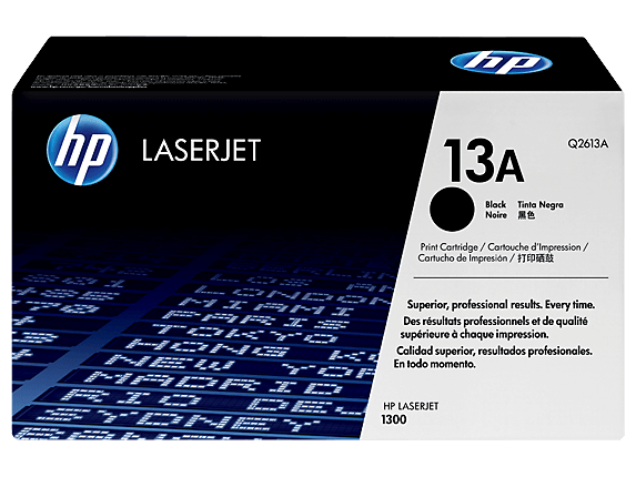 HP 1300 Toner Cartridges Q2613A,  High Yield Q2613X.